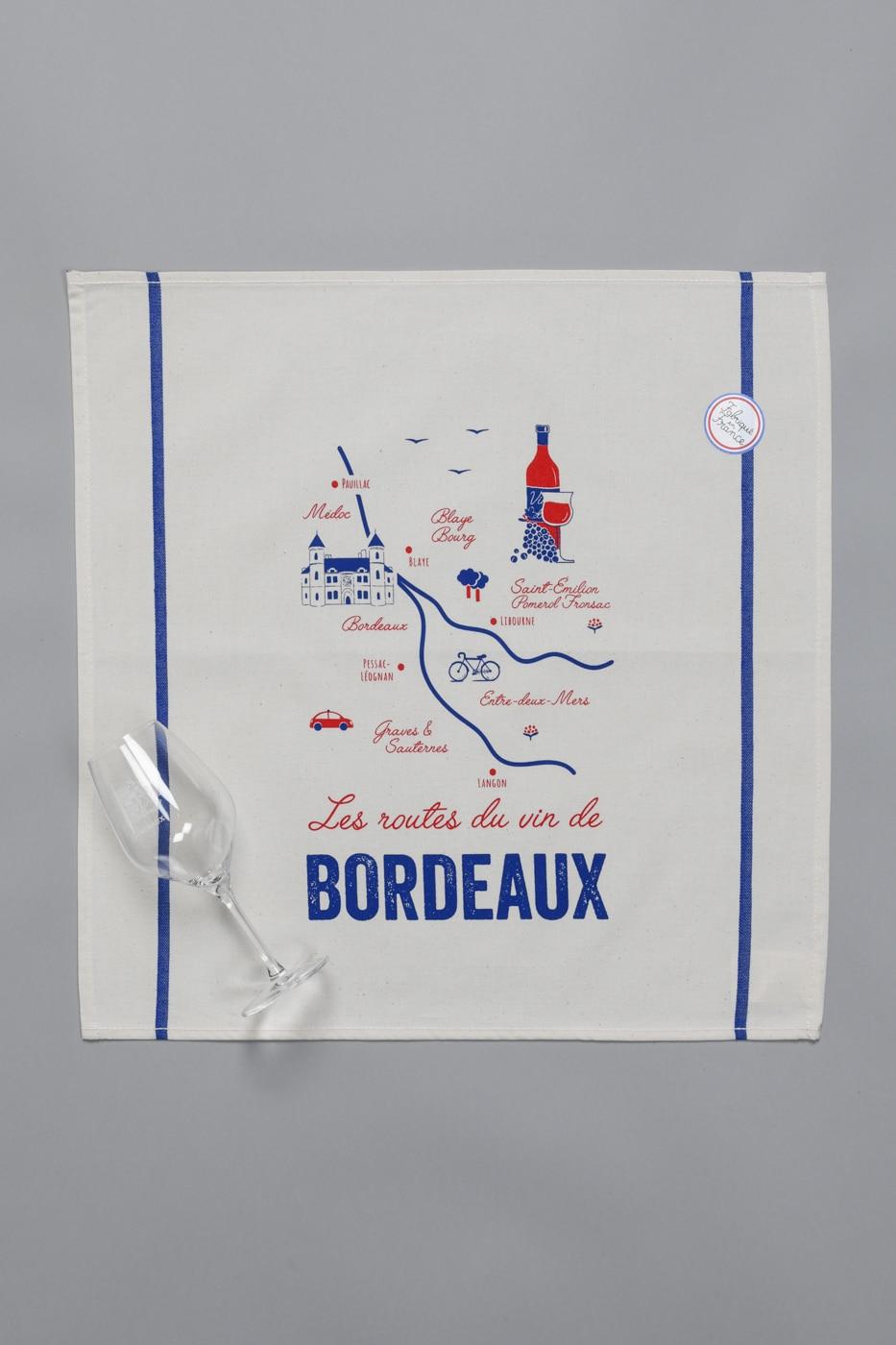 Serviettes «Tissage de l'Ouest» - Les routes du vin de Bordeaux