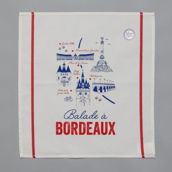 Serviettes «Tissage de l'Ouest» - Balade à Bordeaux