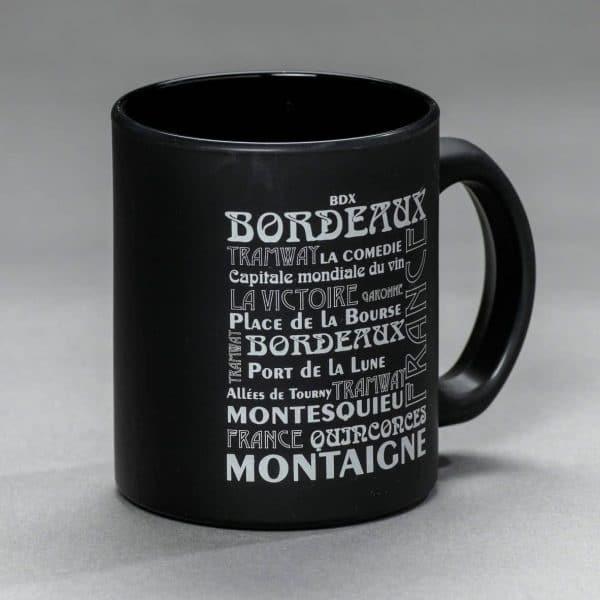 Mug Bordeaux mat noir