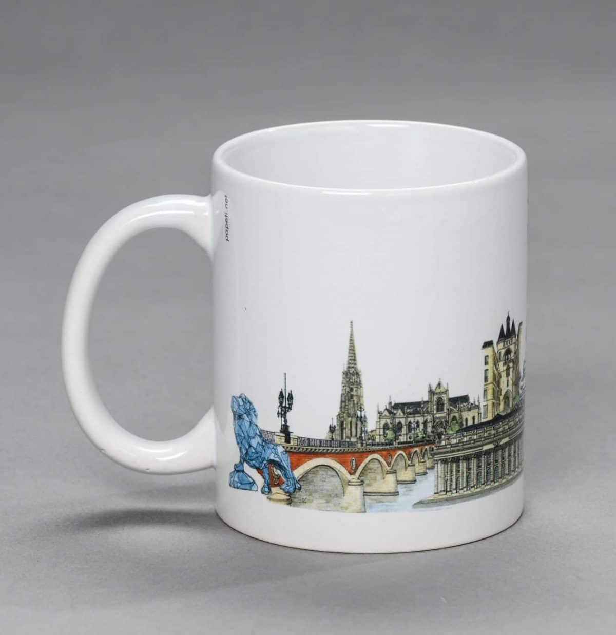 Mug Monuments de Bordeaux façon «Aquarelle»