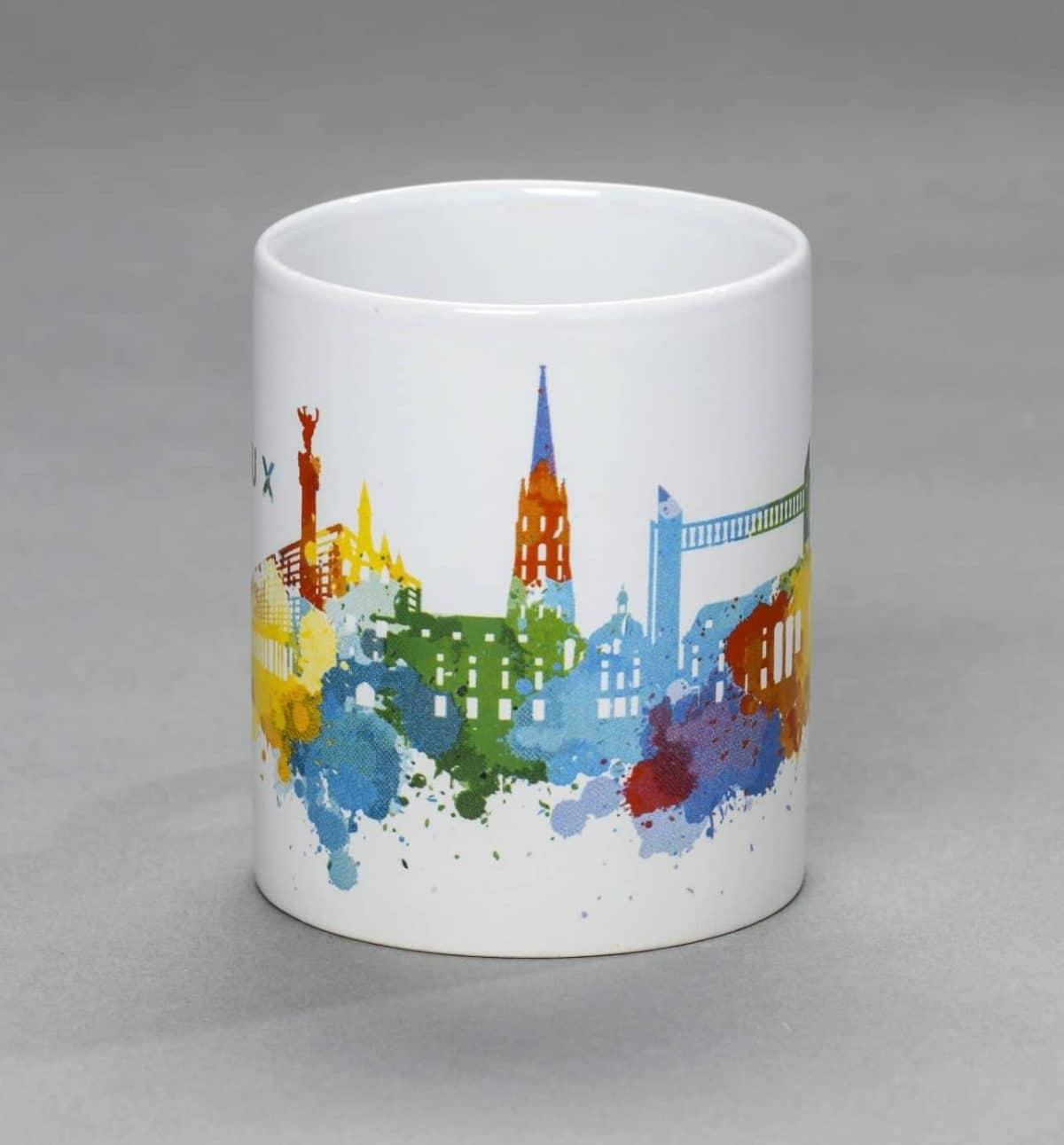 Mug Monuments de Bordeaux frise colorée