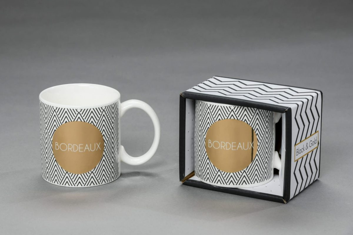 Mug Bordeaux Black & Gold