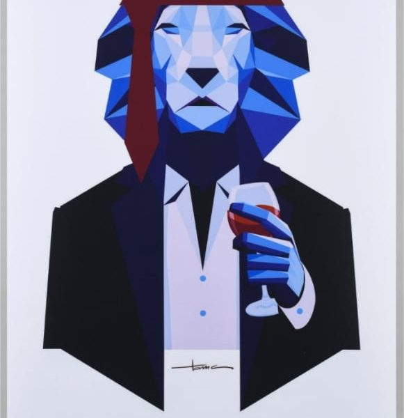 Affiche Bordeaux Lion