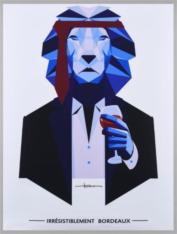 Affiche Bordeaux Lion