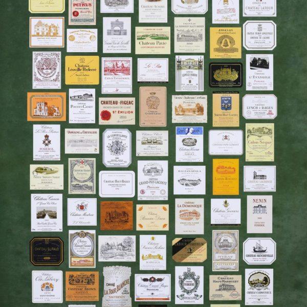 Affiches étiquettes des grands vins de Bordeaux