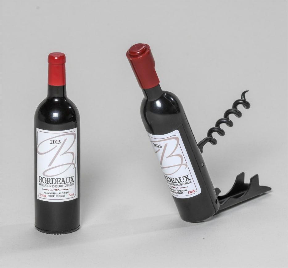 Magnet tire-bouchon bouteille de vin de Bordeaux