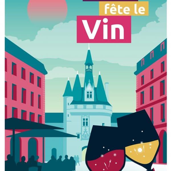 Poster Bordeaux Fête le Vin